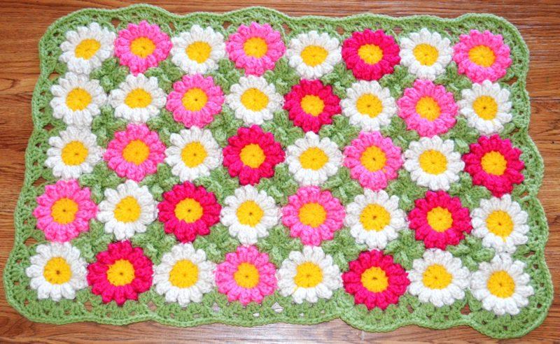 Flores De Crochê Simples Para Tapete Aplicação Como Fazer